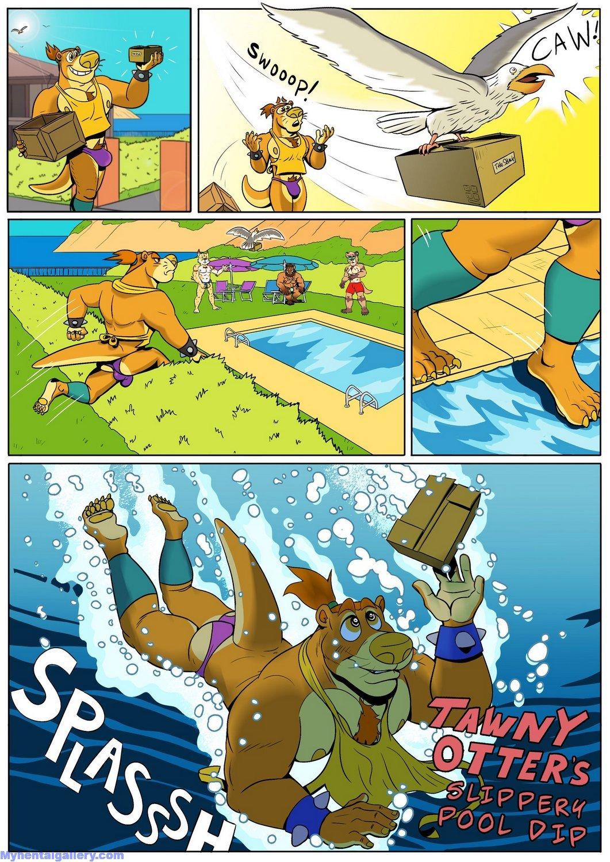 Tawny Otter's Slippery Pool Dip